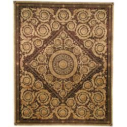 @Overstock.com - Update your home decor with euro-inspired hand-carved finish area rug. This hand-knotted European-style area rug has a multi-colored background and displays stunning panel colors of purple, brown and beige.http://www.overstock.com/Worldstock-Fair-Trade/Asian-Hand-knotted-Royal-Crest-Beige-Purple-Wool-Rug-10-x-14/5663159/product.html?CID=214117 $2,210.39