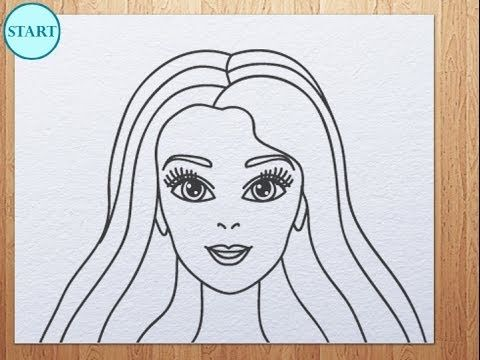 How To Draw Barbie Face With Images Barbie Drawing Easy