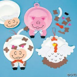 Paper Plate And Foam Farm Animal Craft Kit dz)  sc 1 st  Pinterest & Brujitadelux: Animales en Plato de Cartón | platos | Pinterest ...