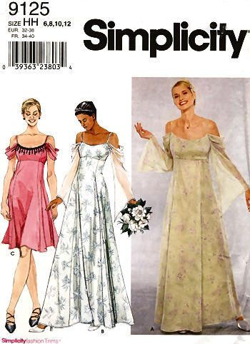 Wedding Dress or Evening Gown Sewing Pattern 30.5-34 ...