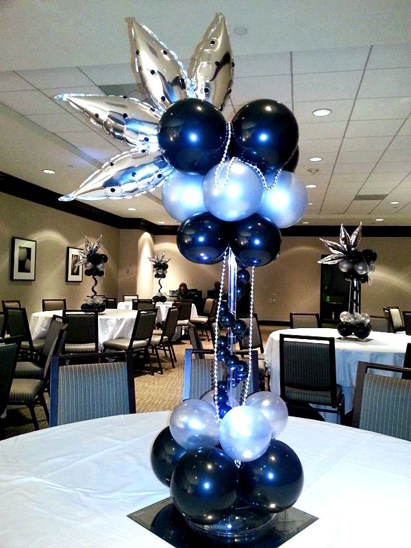 Stylish table and floor bouquet centrepiece balloon