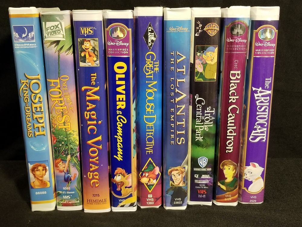 Lot of 9 Childrens VHS Clamshell classic Movies Disney Fox ...