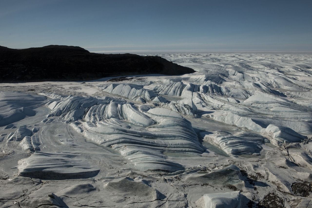 Antarctica.5 Swirling compressed sea ice changes shape as