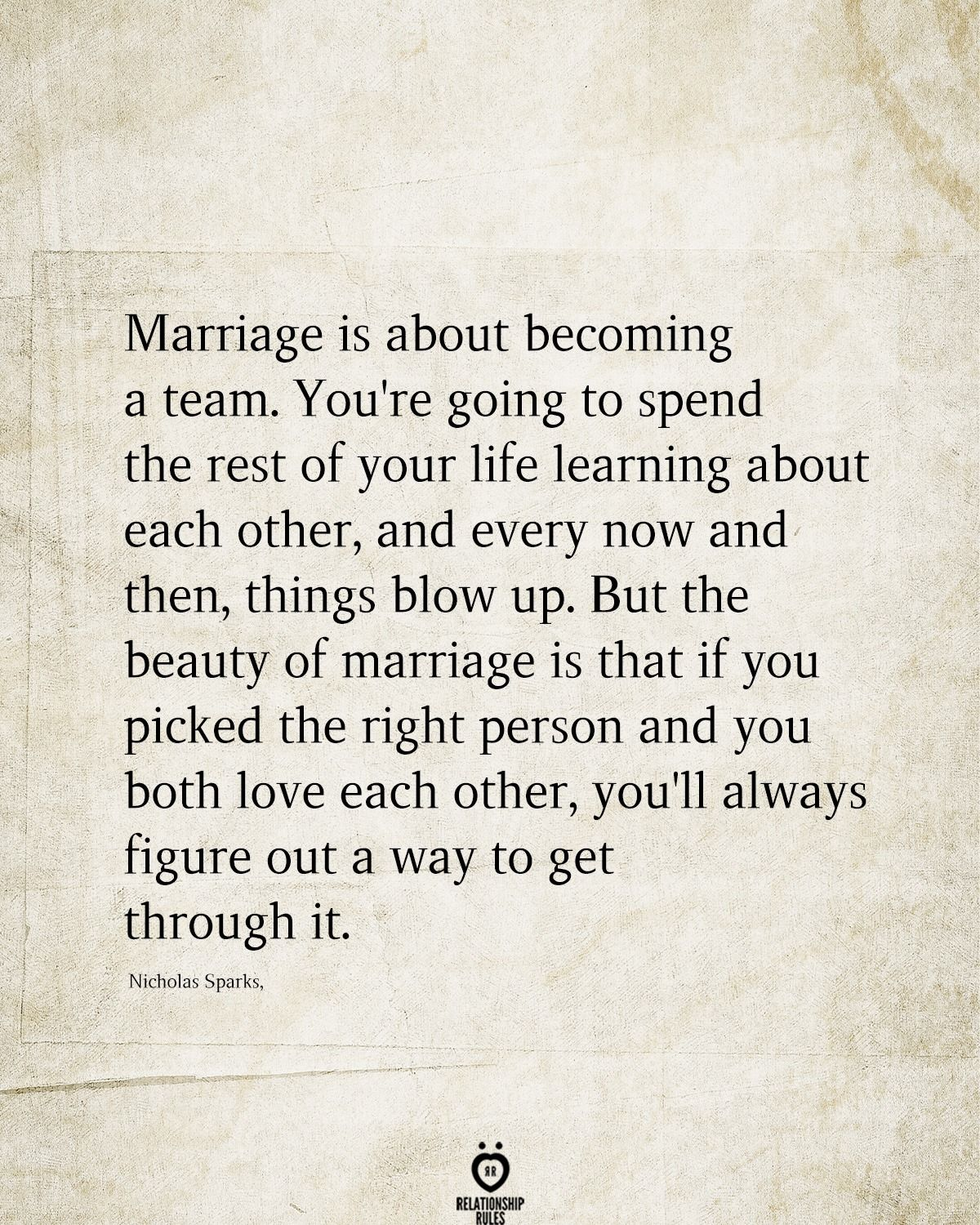 Marriage Is About Becoming A Team In 2021 Like You Quotes Flirty Quotes Miss Me Quotes
