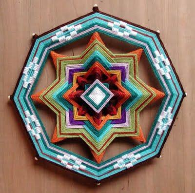 Como hacer Mandalas Ojos de Dios con Lanas Mandala Mandalas and