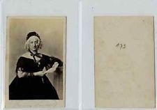 Lecrivain Allemand Fanny Lewald CDV Vintage Albumen Carte De Visite Lewa