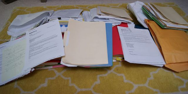 Organize Piles of Paperwork!