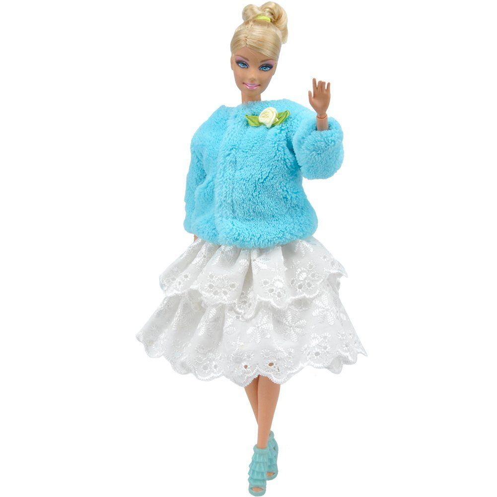 Amazon.com : E-TING Handmade Clothes 1 pcs Barbie Fashionista Xmas ...