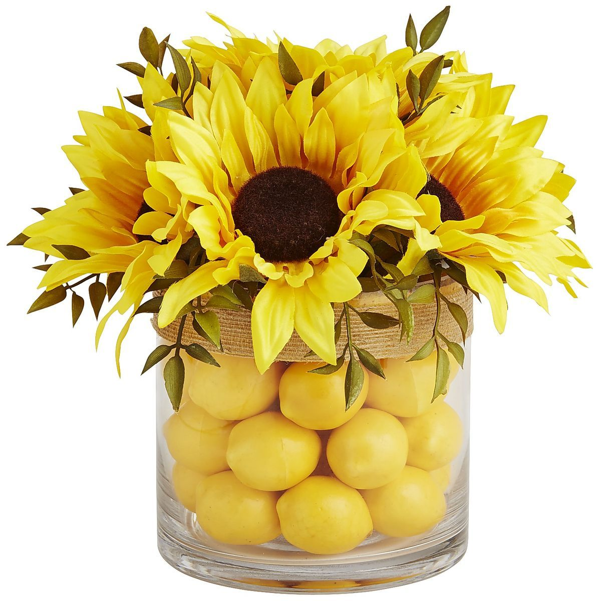 Faux Sunflower   Lemon Arrangement   Pier 1 Imports. Faux Sunflower   Lemon Arrangement   Pier 1 Imports   SUNFLOWERS
