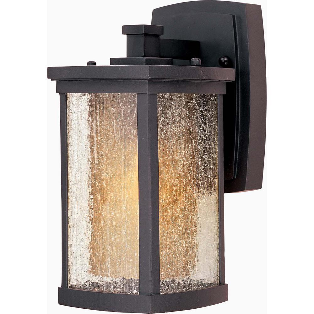 Maxim Lighting Bungalow 5 25 In W 1 Light Bronze Outdoor Wall Lantern Sconce 65652cdwsbz Outdoor Wall Mounted Lighting Led Outdoor Wall Lights Outdoor Wall Lighting