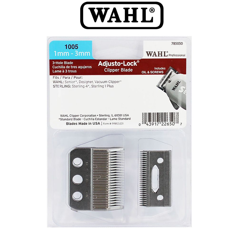 Wahl Replacement 3 Hole Adjusto Lock Clipper Blade Set Cl 1005 Wahl Standard Three Hole Adjusto Lock Clipp Clipper Blades Beauty Salon Equipment Hair Supplies