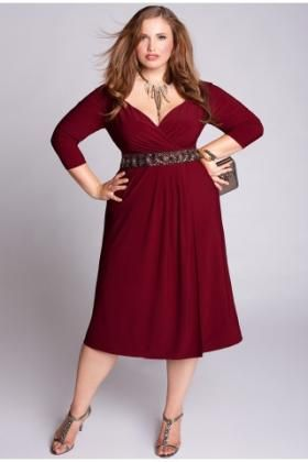 Party Perfect Plus Size Christmas Dresses With Sleeves | Fashion ...