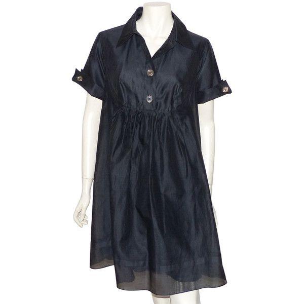 depot vente de luxe en ligne BURBERRY robe noire en organza de soie et  coton - On sale eshop luxe www.tendanceshopping.com 9095cd0876d1