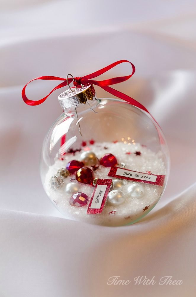 80+ Personalized Christmas Ornaments Anyone Can Craft Clear glass - christmas decorations diy