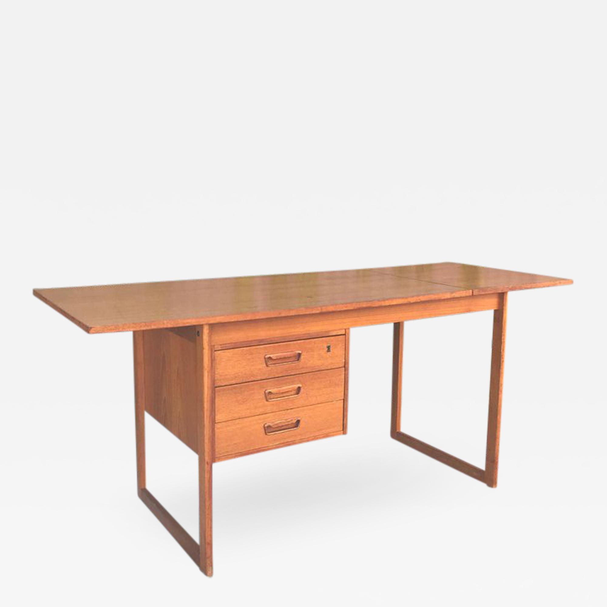 Midcentury Danish Modern Teak Desk Arne Vodder Modern Desk