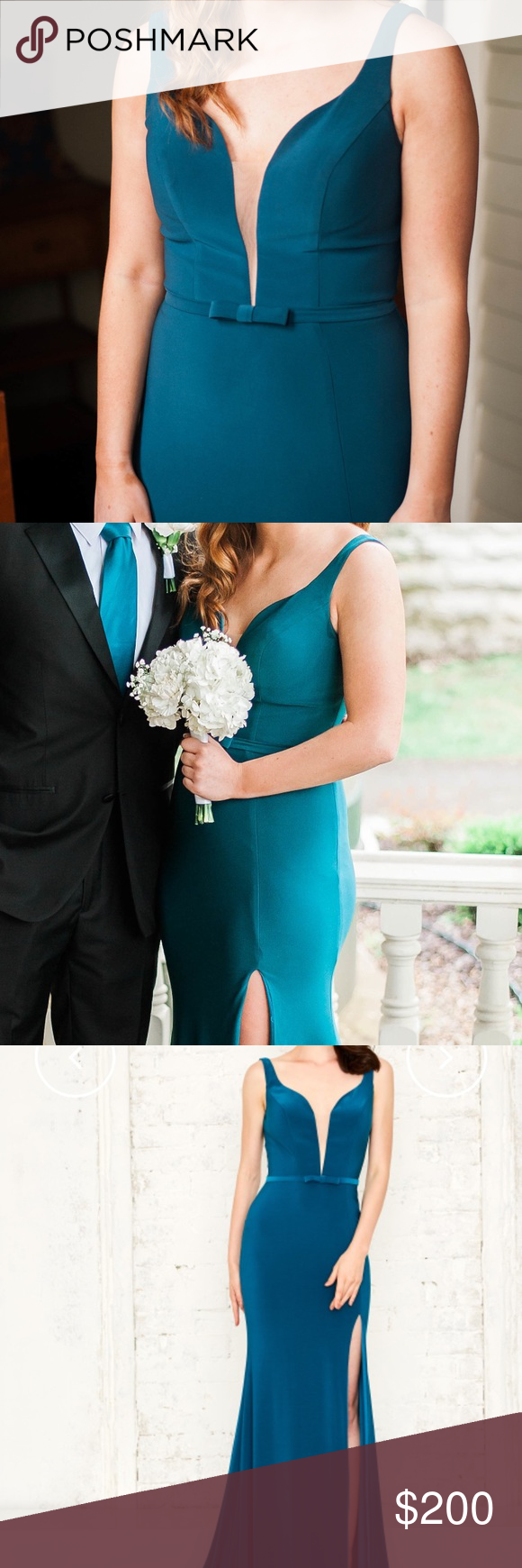 Angela and alison size prom dress dark teal teal colors and prom