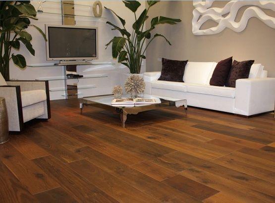 Elegant Look Living Room With Brazilian Walnut Flooring