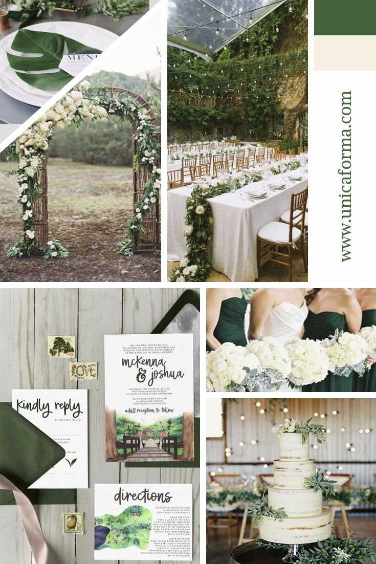 Forest Green Wedding Green Wedding Rustic Wedding Outdoor Wedding Summer Wedding Win Green Wedding Invitations Forest Green Wedding Emerald Green Weddings