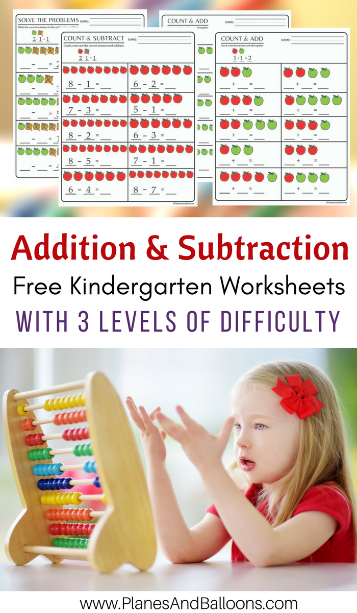 Kindergarten Math Worksheets PDF: Addition and Subtraction to 10 ...
