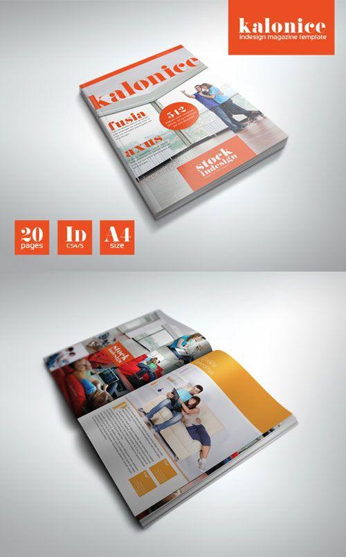 InDesign PRO Magazine Template: Kalonice   ID Indesign   Pinterest ...