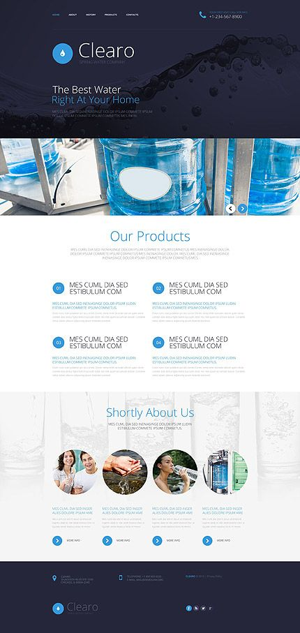 Spring water company website template themes business spring water company website template themes business responsive maxwellsz