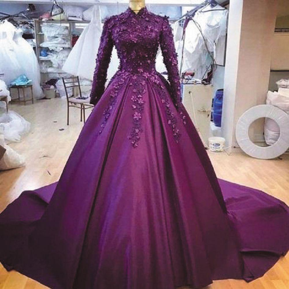 Muslim Prom Dresses Ball Gown Prom Dresses Burgundy Prom Dresses High Neck Prom Dress Elegant Prom Dresses 2021 Prom Dresses Prom Dresses 2021 Vestido De Prom Dresses Ball Gown Muslim Prom [ 1000 x 1000 Pixel ]