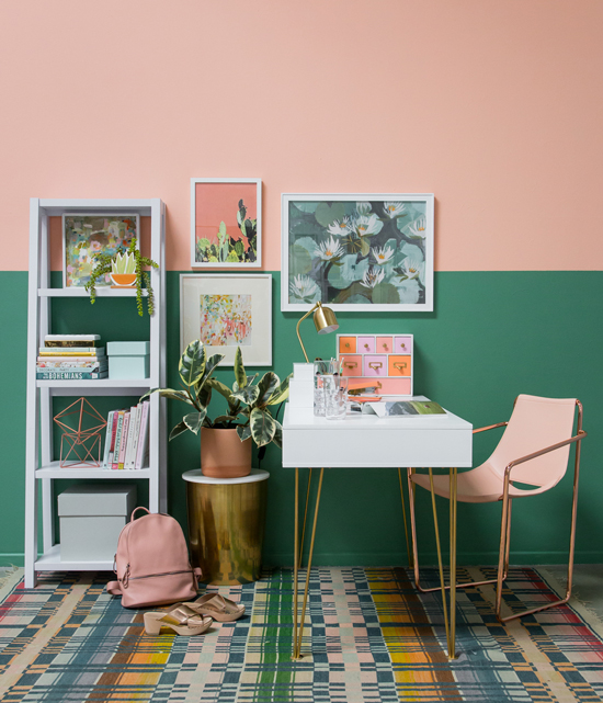 Oh Joy Color Adventures A Peach And Green Office In 2019