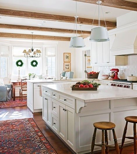 Lovely Kitchen Beams Love The White