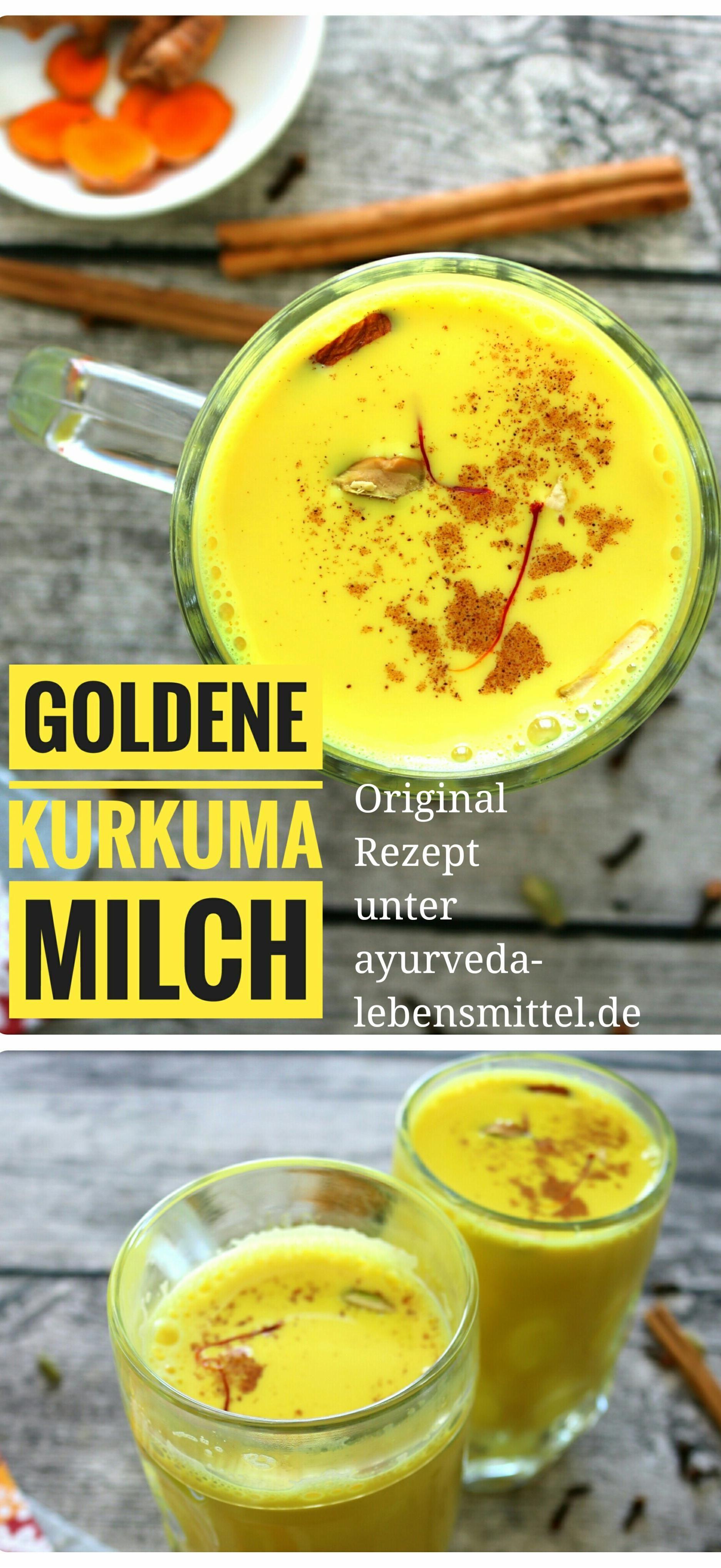 Pin von Ayurveda Küche auf Ayurveda Rezepte   Kurkuma milch, Milch ...