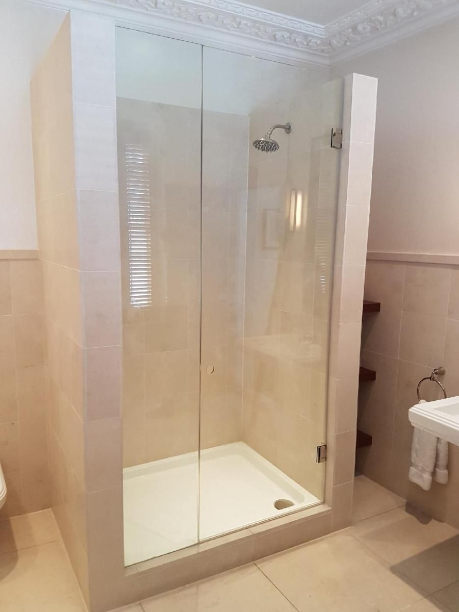 frameless shower enclosure with polished finger pull hole notting rh pinterest com