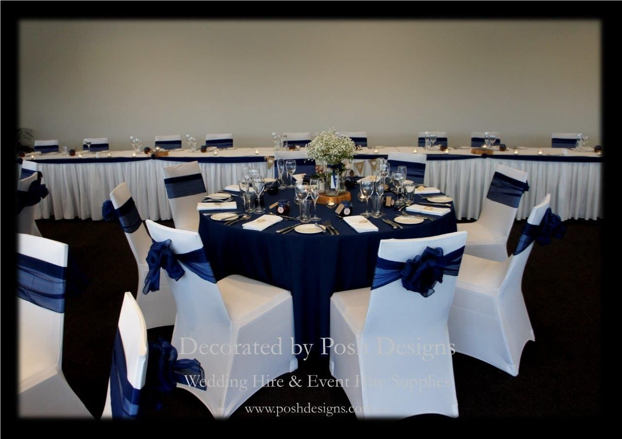 Image Result For Navy Table And Chairs Wedding Silver Juaness Pinterest Blue Tablecloth Centers Corporate Events