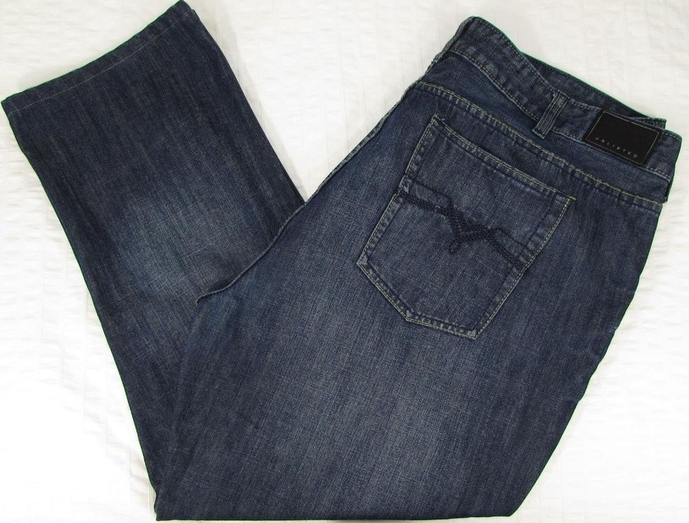 Men Kenneth Cole Unlisted Jeans Indigo Wash Whisking Straight Leg ...