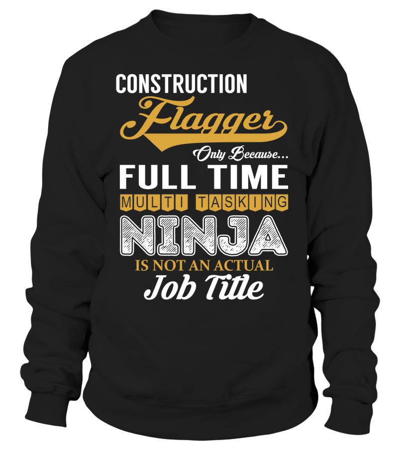 Construction Flagger Multi Tasking Ninja