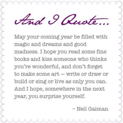 He's a cooky character, that Neil Gaiman.  But I sure love the words that he writes.