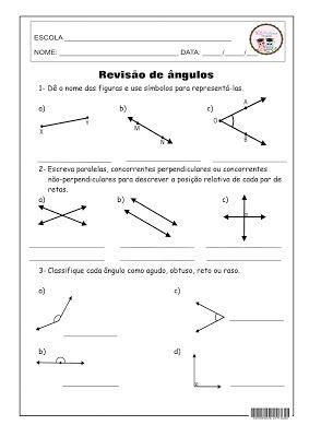 Sosprofessor Atividades Atividades De Geometria Desafios De
