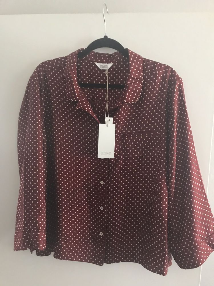 031e177087 Toa.st Polka Dot Print Silk PJ Top Shirt Size 16  fashion  clothing  shoes   accessories  womensclothing  tops (ebay link)