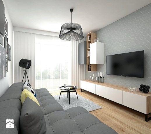 Aranzacje Wnetrz Salon Mieszkanie 40 M2 Salon Styl Skandynawski Big Idea Studio Projekto Apartment Interior Design Apartment Interior Interior Design