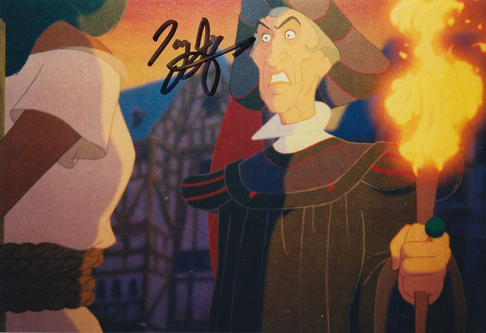 Disney's Hunchback of Notre Dame photograph signed by Frollo ~ Tony Jay