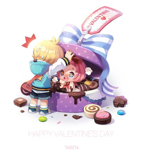 spadow:  Happy Valentine's Day. Enjoy your day. #maplestory2