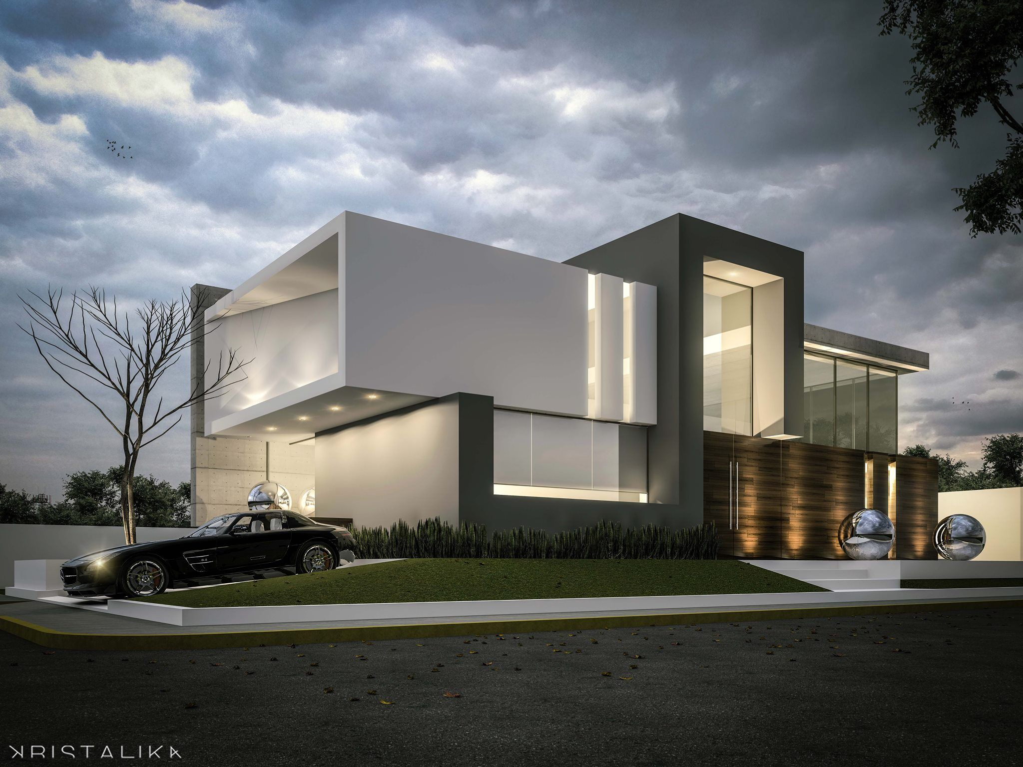 Modern Contemporary House Facade Design