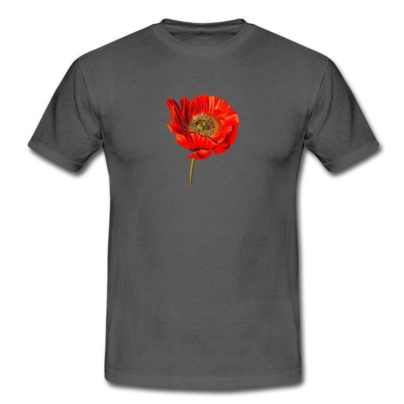Mohn Manner T Shirt T Shirt Manner T Shirt Und Shirts