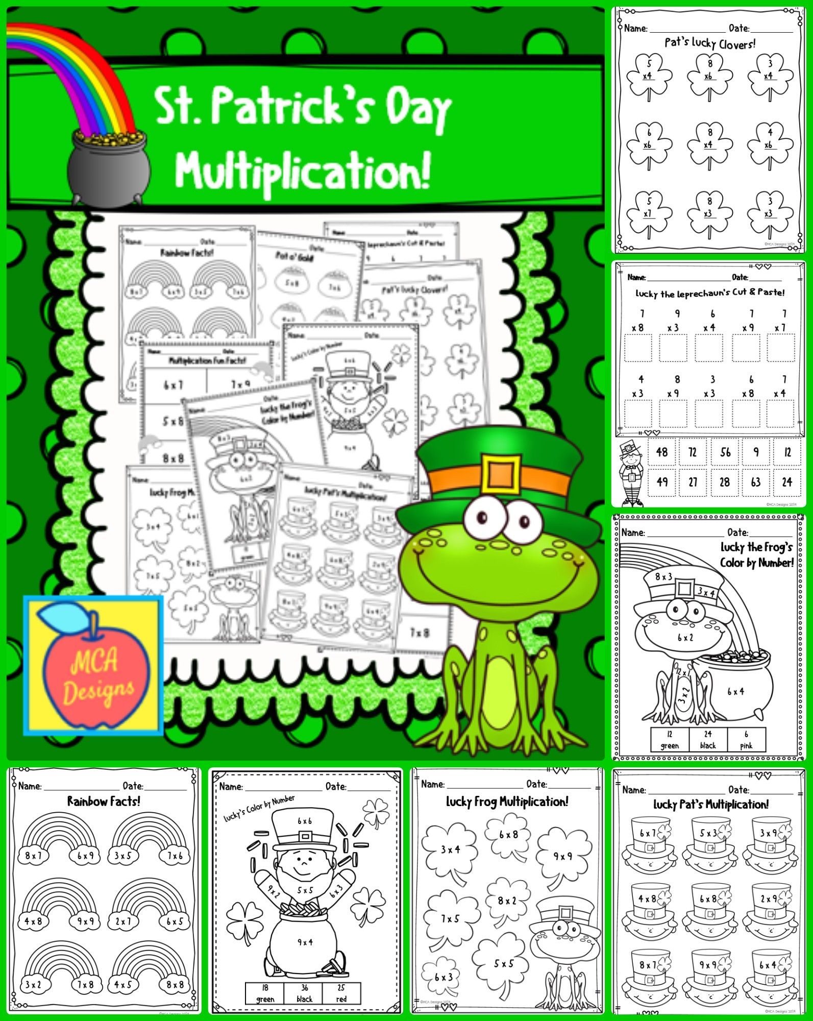 St Patrick S Day Multiplication