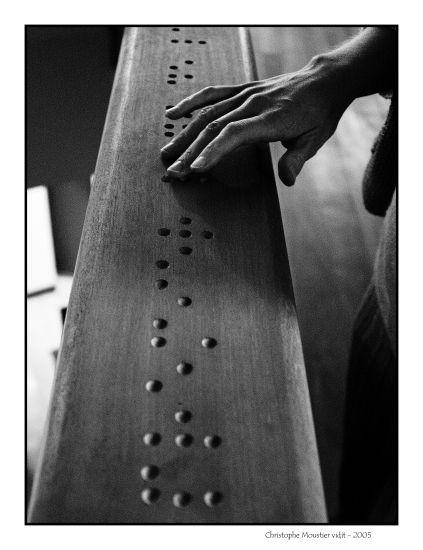Preposition In Learn In Marathi All Complate: Wood-carved Braille Code