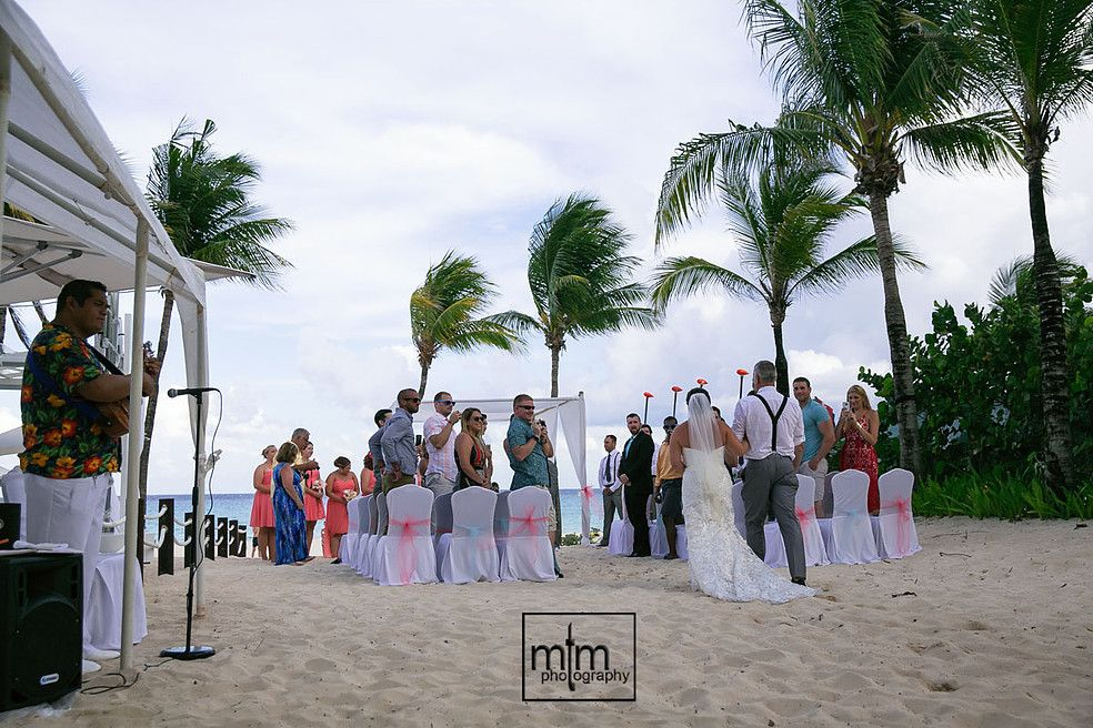 Beach ceremony location Iberostar Tucan Wedding Photographer