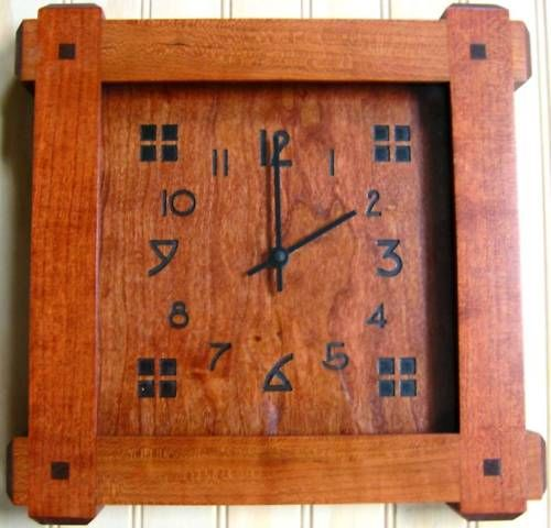 Mission Style Cherry Wood Face Wall Clock I Love This
