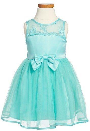Zunie Lace & Tulle Sleeveless Party Dress (Toddler Girls, Little Girls & Big Girls)