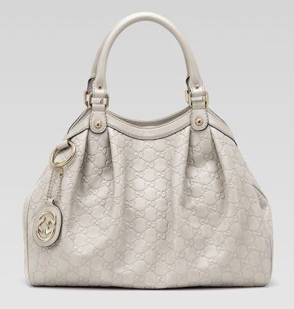 Gucci Sukey Tote Handbag Guccisima Leather Off White Purse Handbag ...