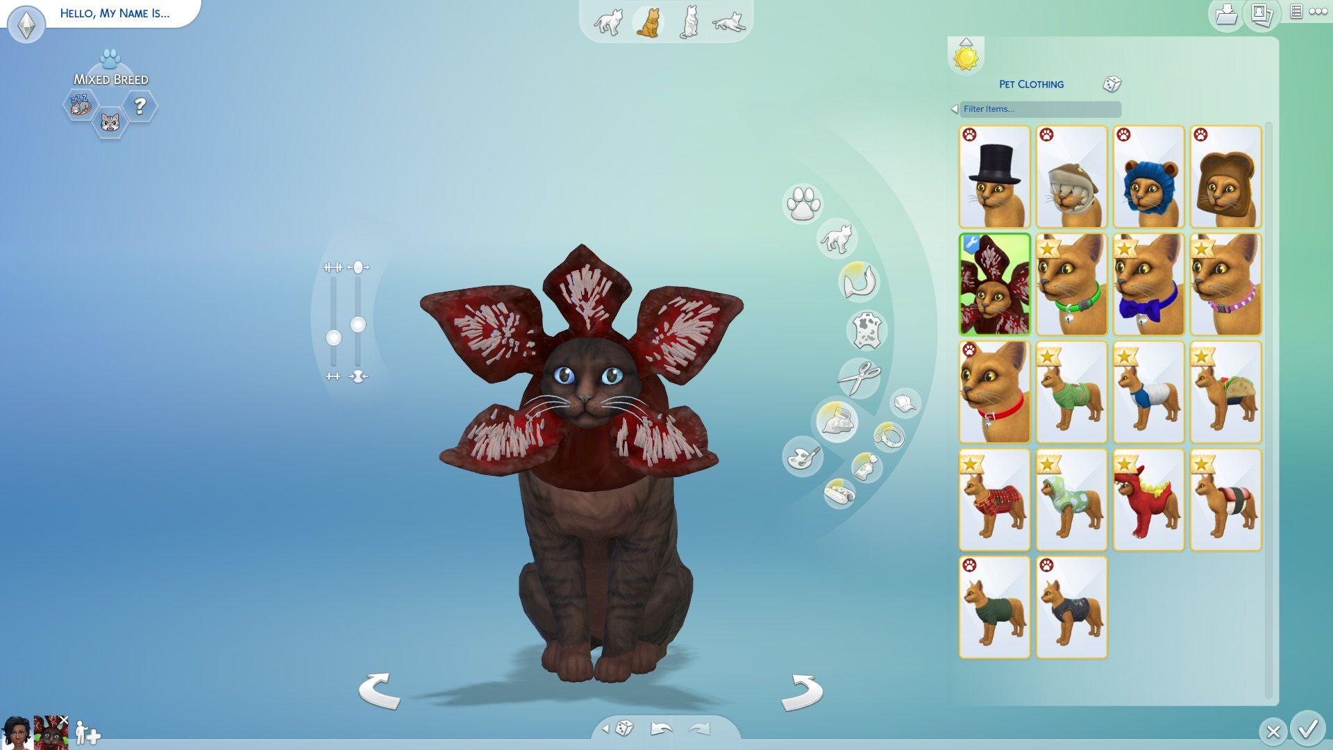 Mod The Sims Demogorgon Cat Hat Sims 4 Pets Sims Pets Best Sims