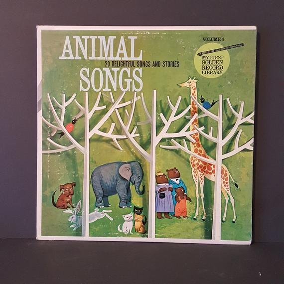 vintage vinyl children's record from Golden Records