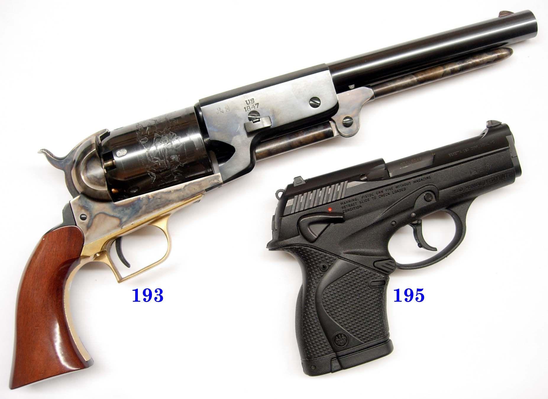 1847 Colt Walker Revolver & pea shooter   Bang 4 (1397 pins
